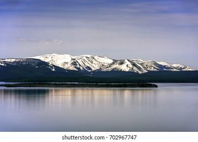 Mountain Reflections on Lake