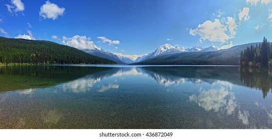 Mountain Reflects over Lake