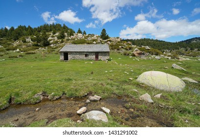 Mountain refuge in the natural park of the Catalan Pyrenees, France, Pyrenees-Orientales
