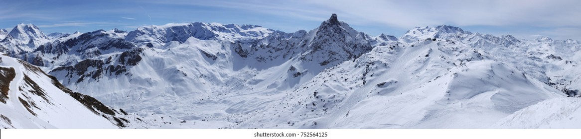 Mountain ridge in France Alps