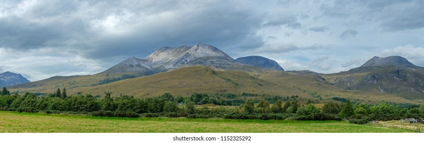 Mountain ridge in the Torridon area of the Highlands of Scotland