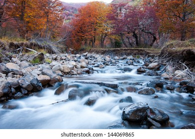 mountain river in autumn