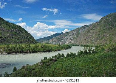 Mountain river Katun, Altai Republic, Russia
