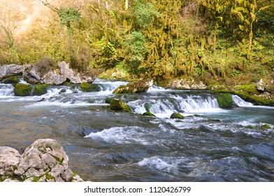 Mountain river Mchishta. Abkhazia