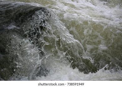 Mountain River, Rushing Water Flowing Texture