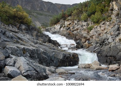 Mountain river of Russia.