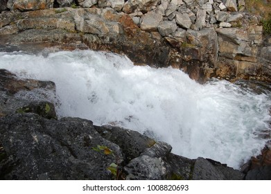 The mountain river of Russia on Udokan.