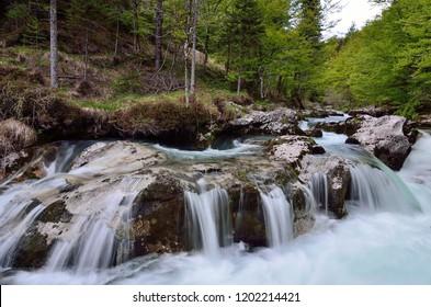 Mountain river in Slovenia