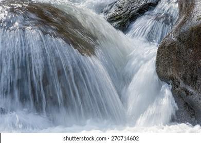 Mountain river small waterfall