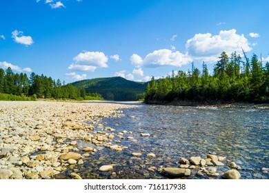 mountain river in the taiga