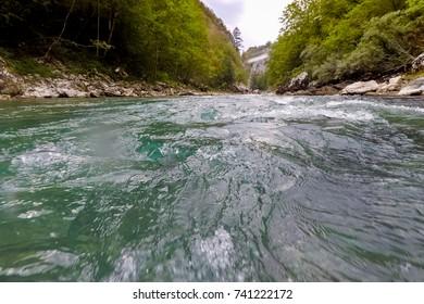 mountain river Tara in Montenegro in summer