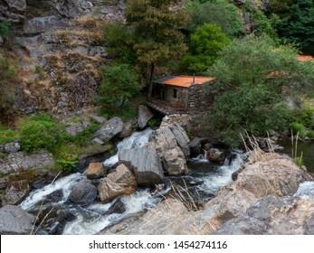 Mountain river waterfall landscape skyblue