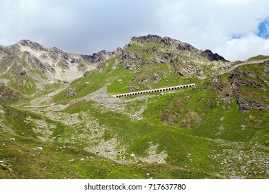 A mountain road in Italian Alps