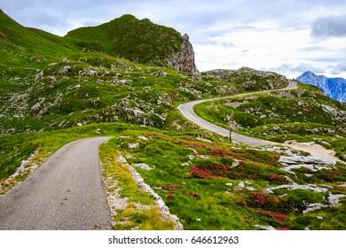 Mountain road (Julian Alps)