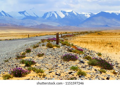 Mountain road. Landscape. Pamir. Tajikistan. Pamir highway