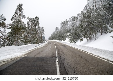 Mountain road of Madrid