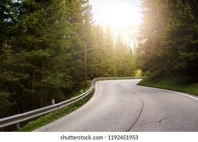 Mountain road at the mountains Dolomites, Italy