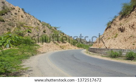 Mountain Road Natural Beauty Background Pakistan Stock Photo