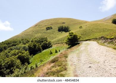 mountain road, pyrenees