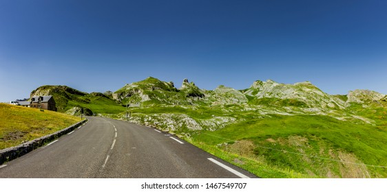 mountain Road at Somport Pass Pyrenees summer