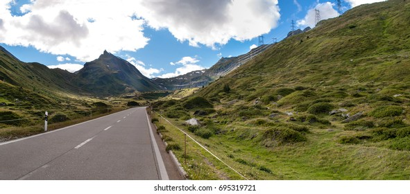 Mountain road in the Switzerland