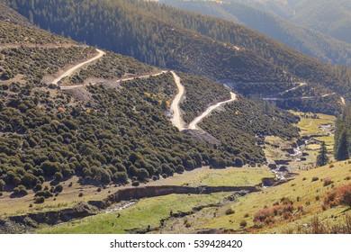 mountain road at tibet,china
