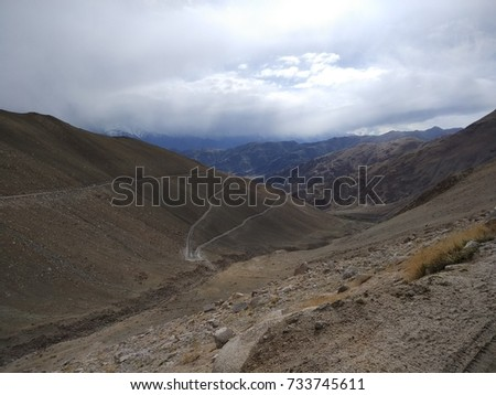 Mountain Road Trip Cold Desert India Stock Photo Edit Now