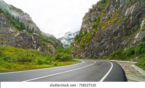 mountain road. turkey trip