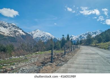 Mountain road in upper Svaneti, Georgia