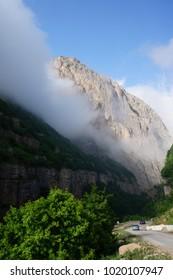 Mountain road to Xinaliq mountain, Quba region , Azerbaijan