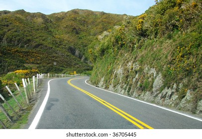 A mountain road,in the Rimutaka Hills, New Zealand