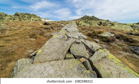 Mountain rocky path