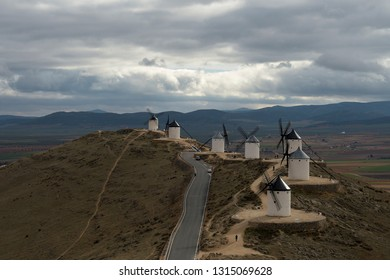 Mountain route with windmills and beautiful views