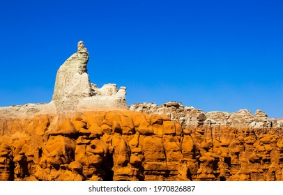 Mountain sandstone rock in canyon. Sandstone rock in canyon. Canyon sandstone view