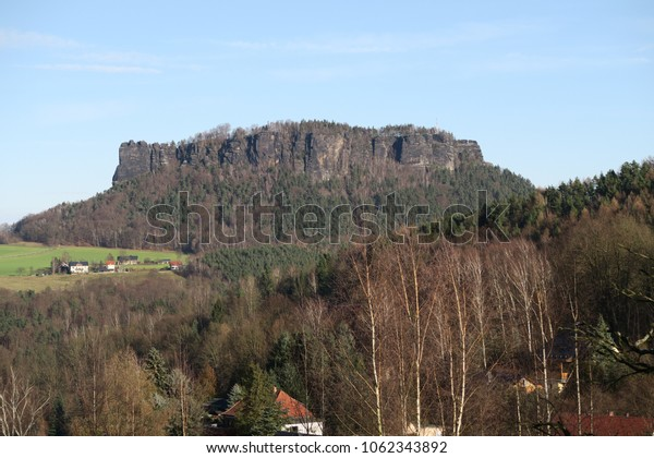 a mountain in the saxon switzerland