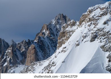 Mountain scenery, Graian Alps, Mont Blanc range, Aosta Valley, Italy