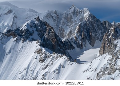 Mountain scenery, Mont Blanc range, Aosta Valley, Italy