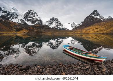 Mountain scenery,  Nevado Condoriri peak, Andes, Bolivia