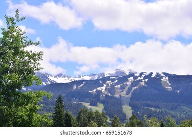 Mountain scenery on sunny day