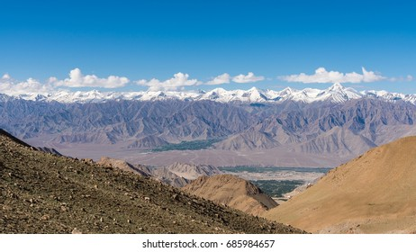 Mountain scenery view in Leh Ladakh, India