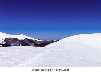 Mountain scenery in Vigla, Florina's ski center, Greece