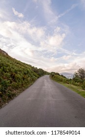 Mountain scenic of a road in the English Lake District, Cumbria, United Kingdom
