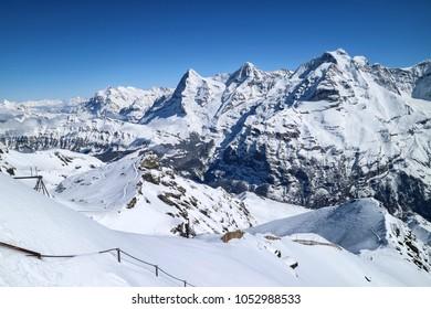 Mountain Schilthorn Eiger Monch Jungfrau, Switzerland