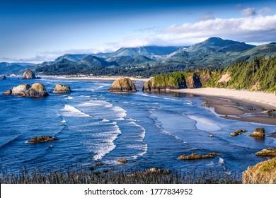 Mountain sea beach landscape. Sea beach in mountains. Mountain sea beach - Shutterstock ID 1777834952