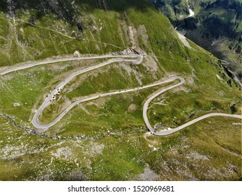Mountain serpentine road Transfagarasan, Romania