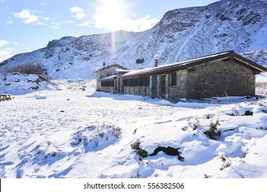 Mountain shelter Lago Nero in Tuscany (Italy)