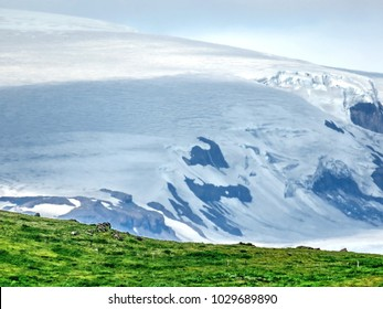 Mountain in Skaftafell National Park in Iceland, July 7, 2017