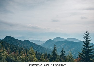 Mountain skyline. Choc Mountains are a range of mountains in north-central Slovakia, a portion of the Fatra-Tatra Area of the Inner Western Carpathians