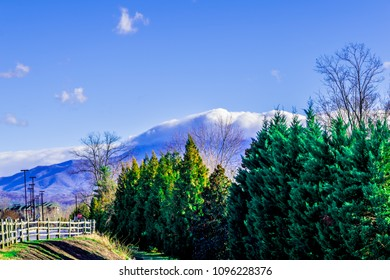 Mountain skyline in Pigeon Forge, Tennessee