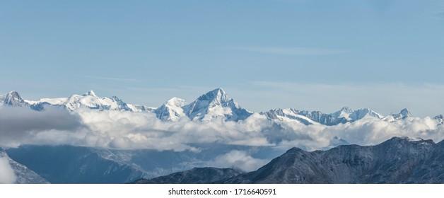 Mountain Skyline from Swiss Glacier